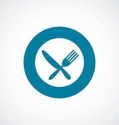 restaurant icon bold blue circle border vector image vector image
