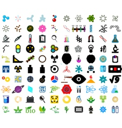 Set of science icons vector image