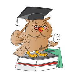 smart owl graduate vector image