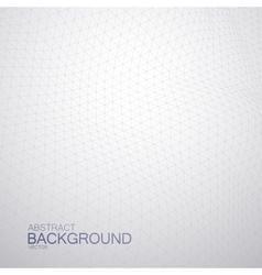 3D cyberspace grid vector image