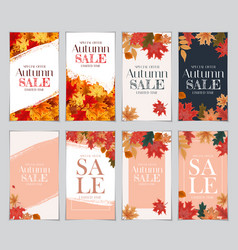 Abstract autumn sale background with falling vector