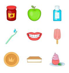 Acid drop icons set cartoon style vector