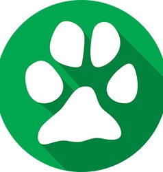 Animal paw icon vector