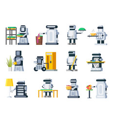 artificial intelligence robots set vector image