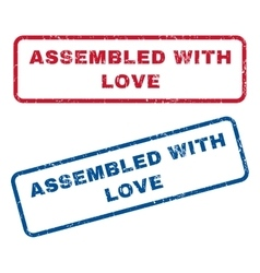 Assembled With Love Rubber Stamps vector