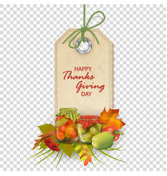 Autumn thanksgiving label vector
