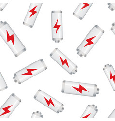 battery charge level indicator seamless pattern vector image
