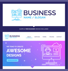 Beautiful business concept brand name tutorials vector