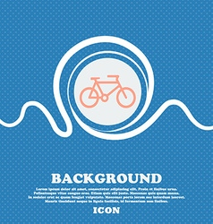 bike sign icon Blue and white abstract background vector image