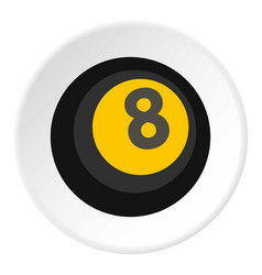 Black snooker eight pool icon circle vector