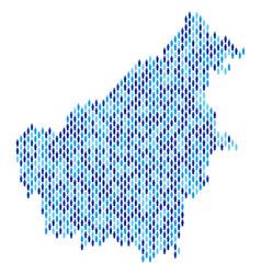 Borneo island map population demographics vector