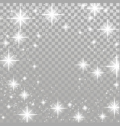 bright star twinkle glow shimmering frame layout vector image