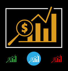 Business financial chart icon vector