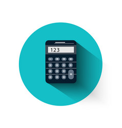 Calculator in flat design vector