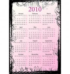 calendar border vector image