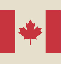 canadian flag in retro colors vector image