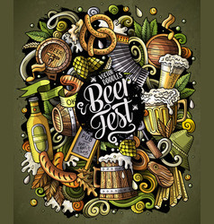 cartoon doodles beer fest vector image