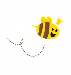 Cartoon Queen bee vector