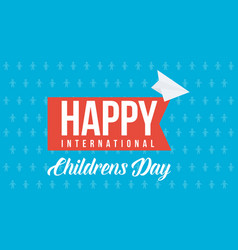 childrens day design background collection vector image