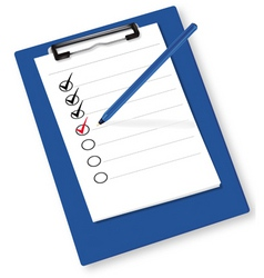 Clipboard with checkboxes ve vector