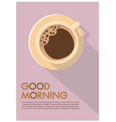Coffee cup poster flat design advertisement vector