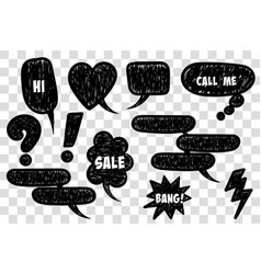 comic book text speech bubble vector image