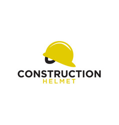 construction helmet logo icon element template vector image