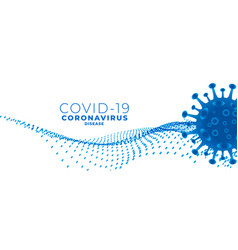 Covid19 novel coronavirus banner with virus cell vector