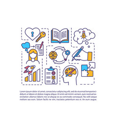 Creative journaling concept icon with text vector