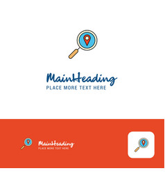 Creative search location logo design flat color vector