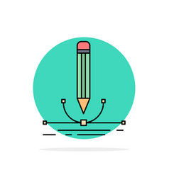 design pen graphic draw flat color icon vector image