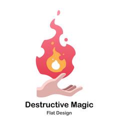 destructive magic flat icon vector image