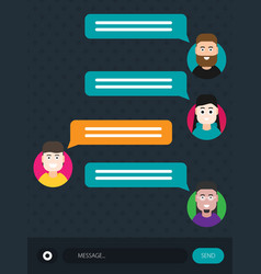dialog in chat flat modern style cartoon vector image