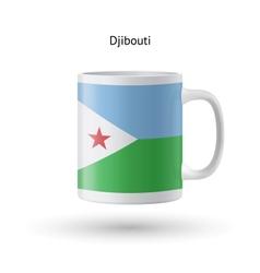 Djibouti flag souvenir mug on white background vector