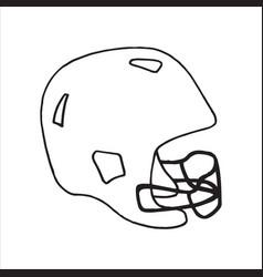 Doodle style football helmet sports equipment vector