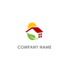 eco house shine nature realty logo vector image