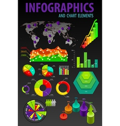 elements infographics vector image