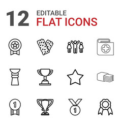 first icons vector image