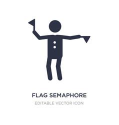 Flag semaphore language icon on white background vector
