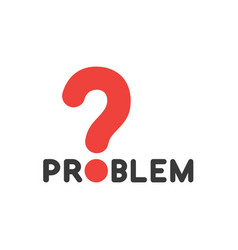 flat design style concept of problem text with vector image
