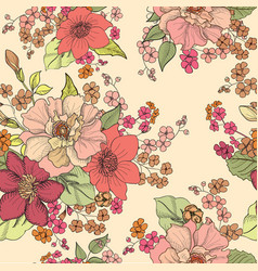 Floral seamless background flower pattern vector