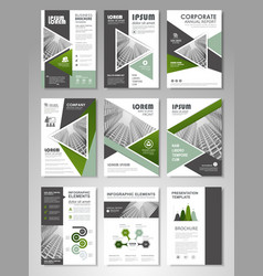 flyer magazine cover brochure business vector image