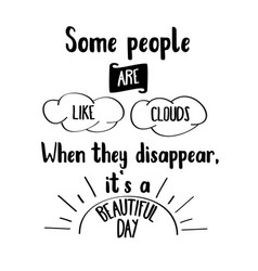 funny hand drawn quote about people vector image