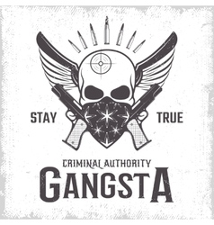 Gangster Monochrome Print vector