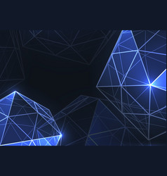 Geometric forms of diamondspolygons vector