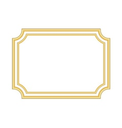 Gold frame Beautiful simple golden white vector image