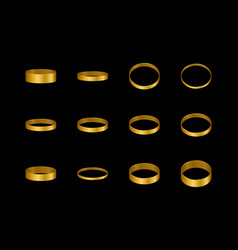 gold rings for a pair lovers design element vector image
