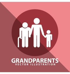 Grandparents silhouettes vector