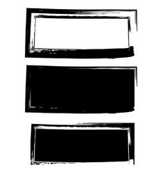 Grunge black frame background set vector image