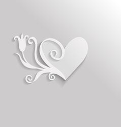 heart tulip vector image